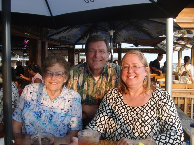 Pensacola 2010 - Susan, Mother, Me at the Oar House