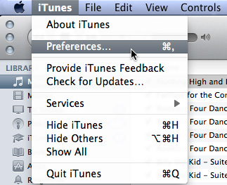 iTunes Preferences (Screen Capture)