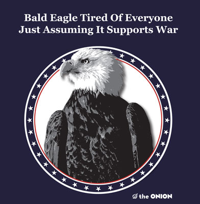 Bald Eagle Tee Shirt (The Onion)