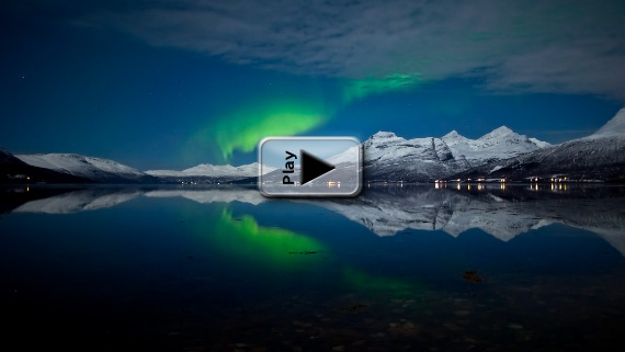 Tromso Northern Lights Play Button