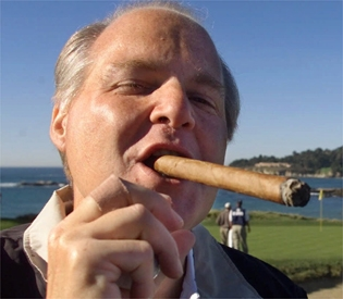 Rush Limbaugh with cigar