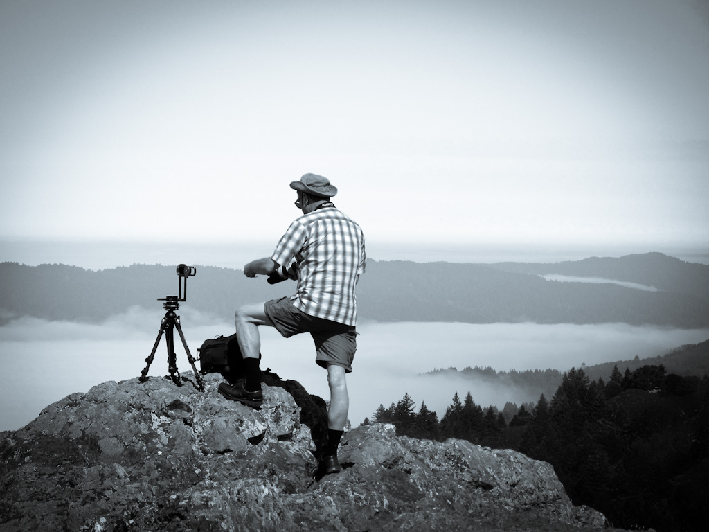 Ansel Adams (Me) at Work Atop Mount Tam