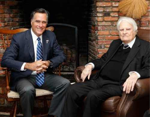 Billy Graham and Mitt Romney