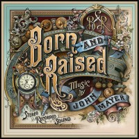 John Mayer Born and Raised Cover by Glass Art by David A. Smith