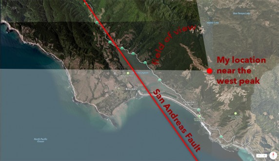 San Andreas Fault (Map) Field of view