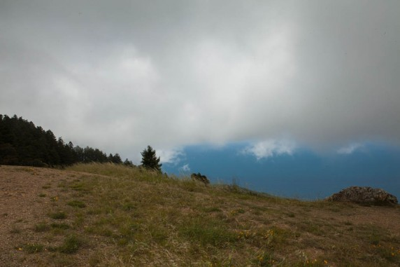 Turbulent Clouds along the West Side of Mount Tamalpais