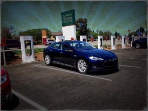 Nick at the  Vacaville Tesla Supercharger