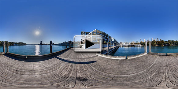 Hotel Blue, Sydney, on Dock 8: Panorama