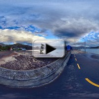French Bay HDR Realistic Vignette Play Button
