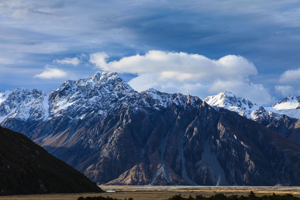Mount Cook and a Panorama of Tasman Valley