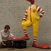 Bansky's Ronald McDonald Shoe Shine Sculpture