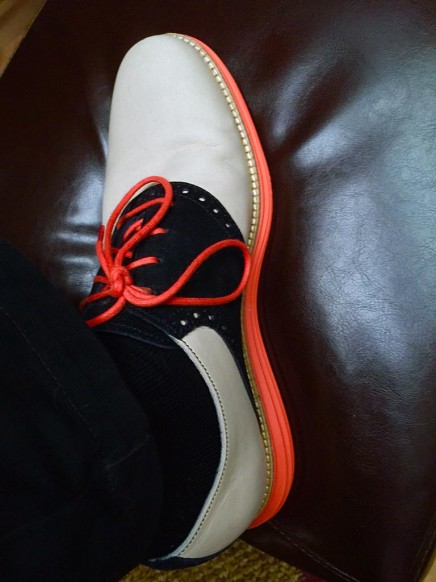 Orange and Black Shoes
