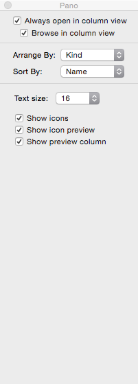 Arrange Folders in the Finder Window