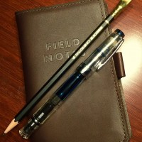 FiledNotes Leather Case, TWSBI 580 Fountain, Palomino Blackwing Pen Pencil