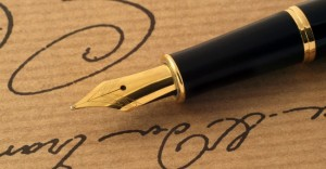 Fountain Pen Hand writing