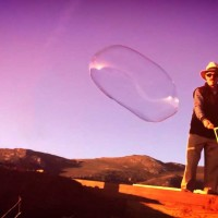 Bubble Man at Rodeo Beach