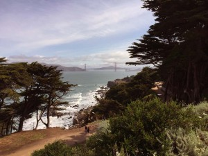 Lands End and the Golden Gate Bridge