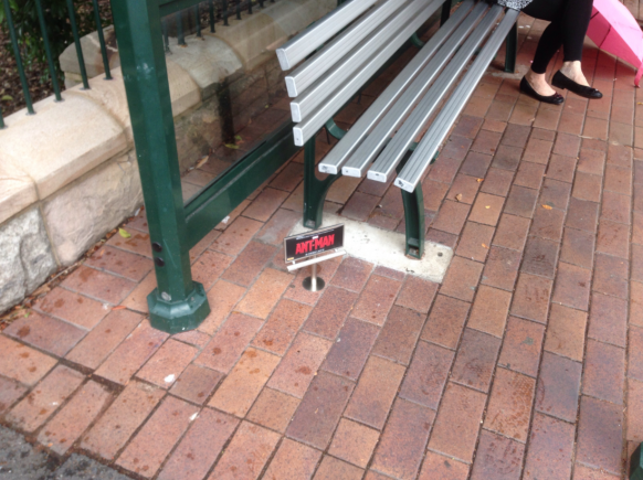 Tiny 'Ant-Man' Billboards Appear in Public as Part of Marketing Stunt