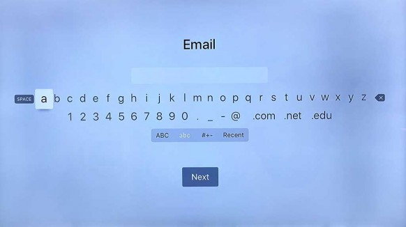 "AppleTV On-screen ""keyboard"""