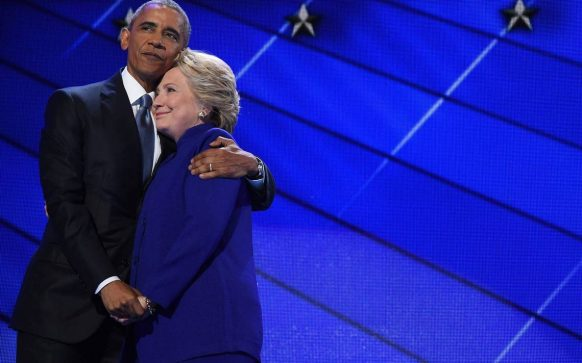 Obama and Hillary Clinton