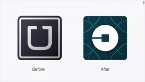 Uber Logo Then and Now