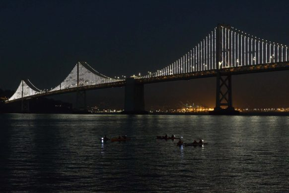 The Water People (kayaker serenity floaters) by the Bay Bridge