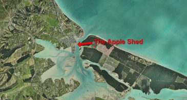 Apple Shed Location in Mapua