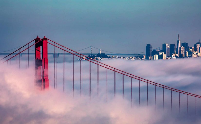 Golden Gate Bridge - Fog, Stylized