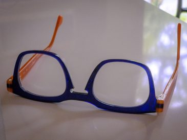 Glasses: Orange and Blue