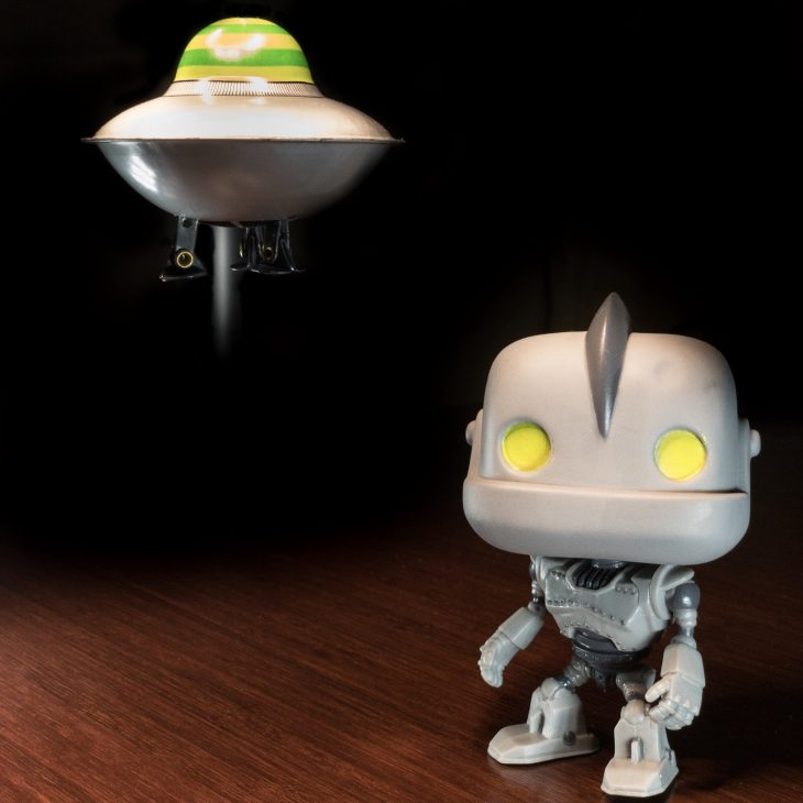 Flying Saucer and Robot