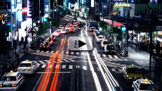 Clever Time-Lapse Shot in Tokyo