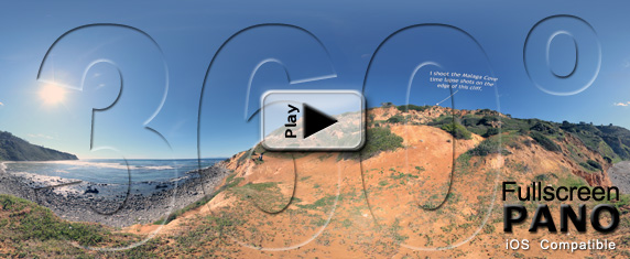 Malaga Cove Panorama 2 - Play Button iOS