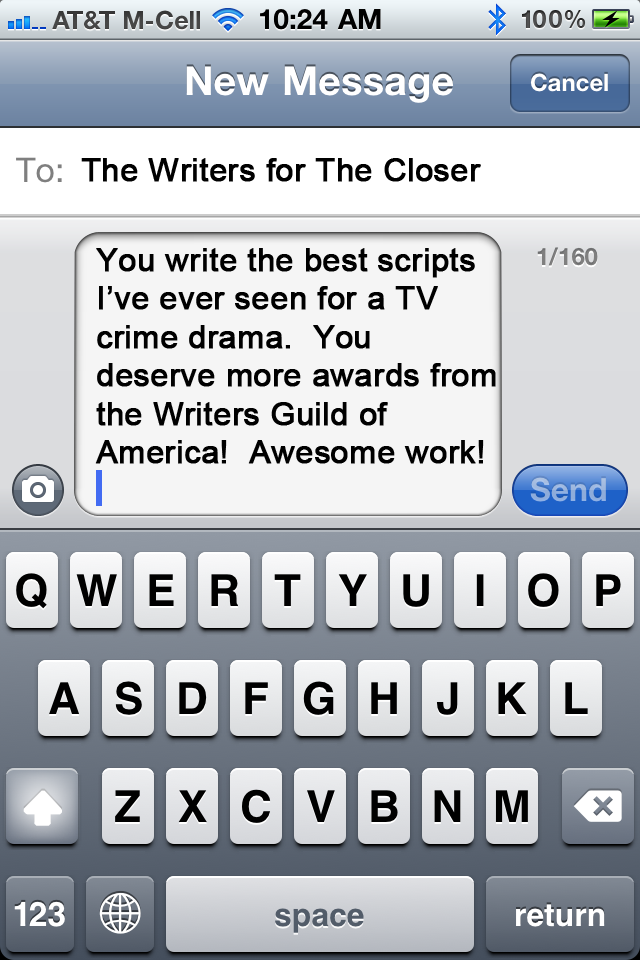 A Message to the Writers of The Closer