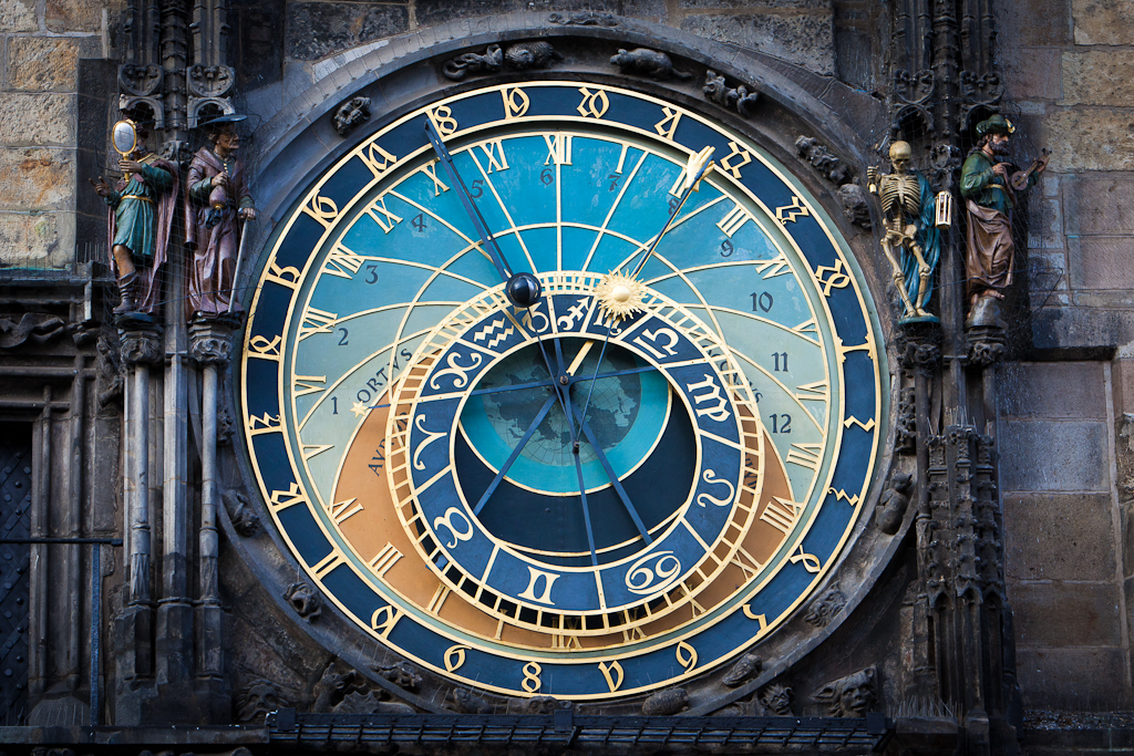 The Astronomical Clock Tower in Prague's Old Town Square