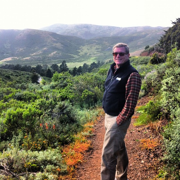Tim in the Headlands (at the Slacker Hill trail head)