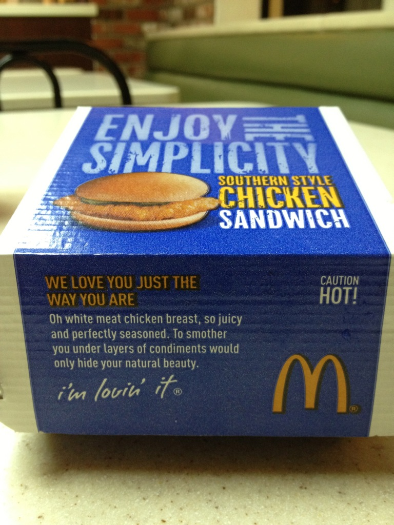 McDonald's Southern Style Chicken Sandwich