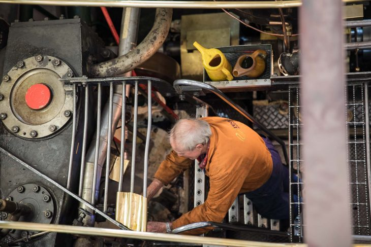 Mechanic aboard the TSS Earnslaw