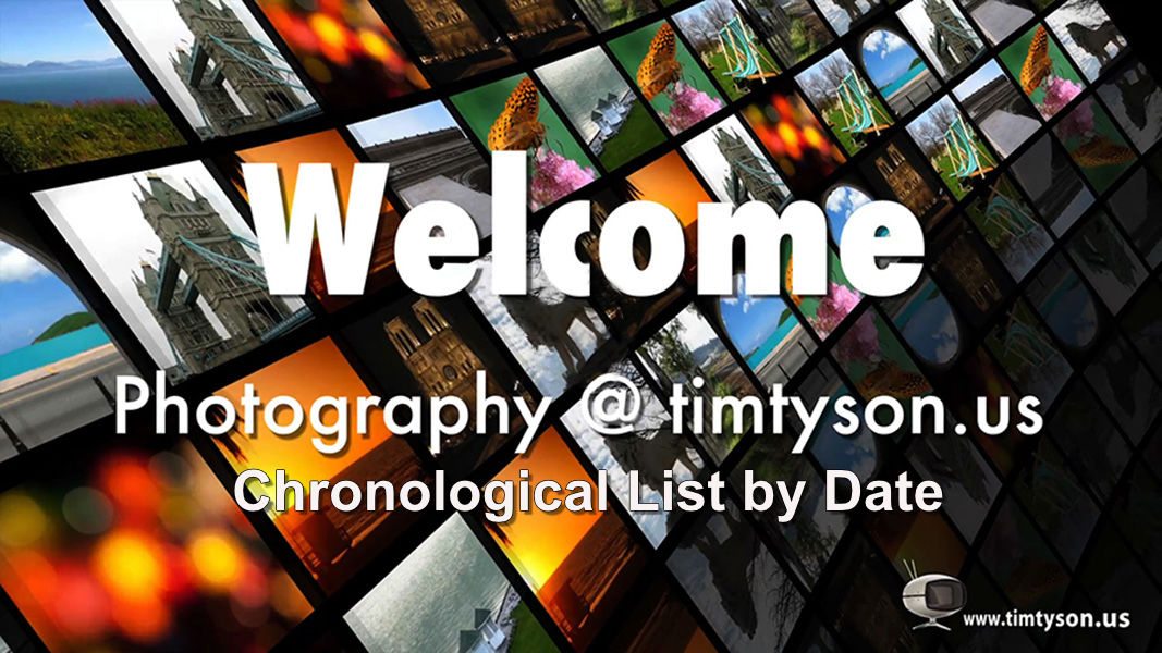 All Photos Chronological List by Date Shot