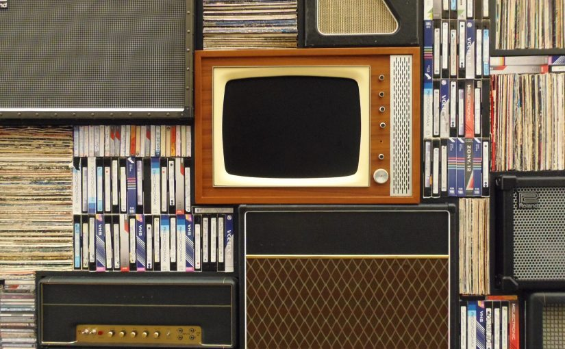 Old TV and VHS Tapes