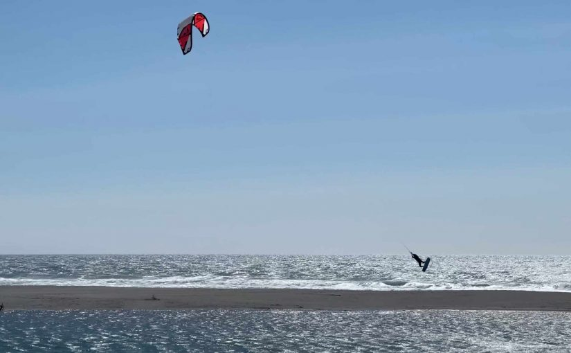Kiteboarding on the River