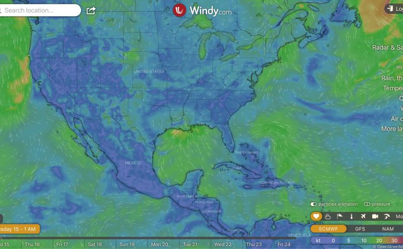 A Very Cool Weather Website: Windy.com