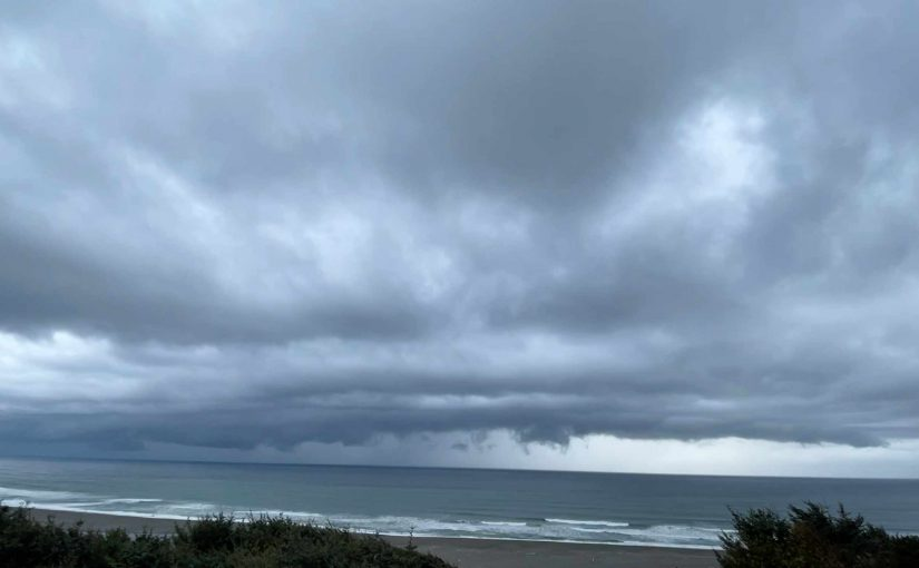 We Had a Small Storm Come Ashore Yesterday…